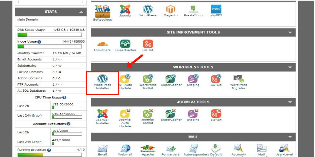 installare wordpress step 4