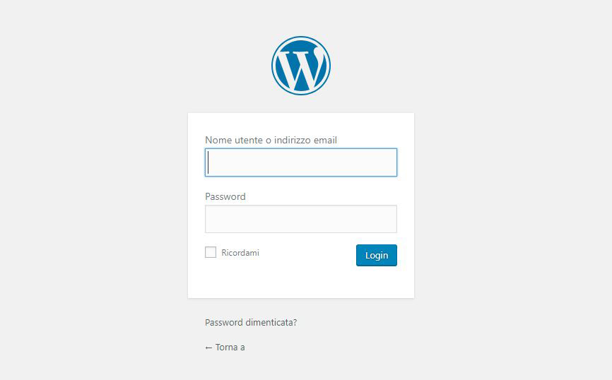 installare wordpress step 8